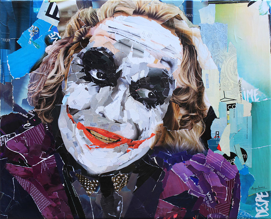 Crazy Monster - Collage, portrait de Joker, Batman