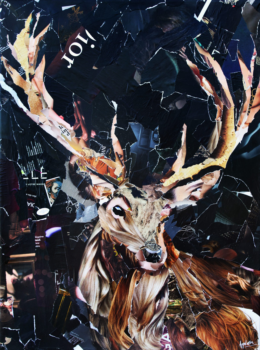cerf majestueux - collage