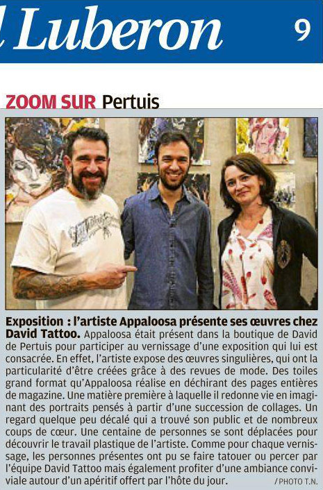 article de presse la provence - david de pertuis