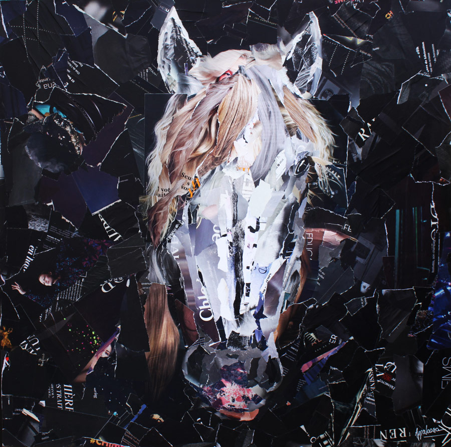 Appaloosa - collage sur toile - cheval