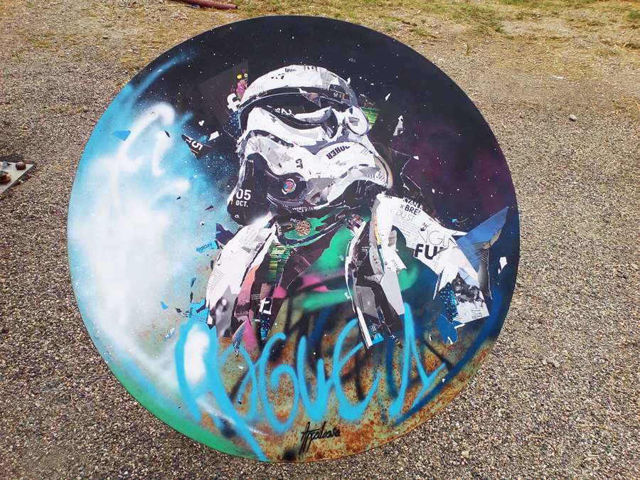 table metal rogue1 au Artwork streetart festival de Pertuis